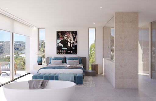 Schlafzimmer Neubauprojekt Mallorca